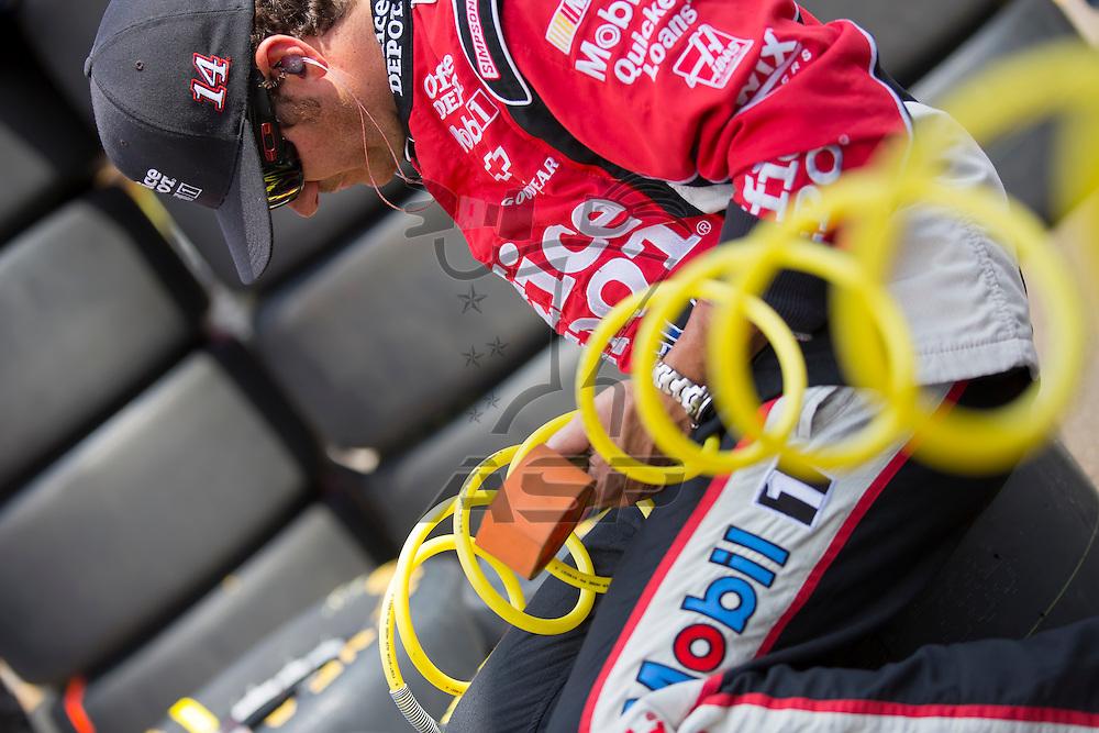 BROOKLYN, MI - JUN 17, 2012:  Tony Stewart (14) races in the Quicken Loans 400 at the Michigan International Speedway in Brooklyn, MI.
