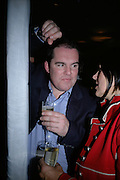 TIM LOWE AND CHRISSI VAN DER MUNCKHON, private view  of new exhibition by Tim Stoner , Alison Jacques Gallery in new premises in Berners St., London, W1 ,Afterwards across the rd. at the Sanderson Hotel. 3 May 2007. DO NOT ARCHIVE-© Copyright Photograph by Dafydd Jones. 248 Clapham Rd. London SW9 0PZ. Tel 0207 820 0771. www.dafjones.com.