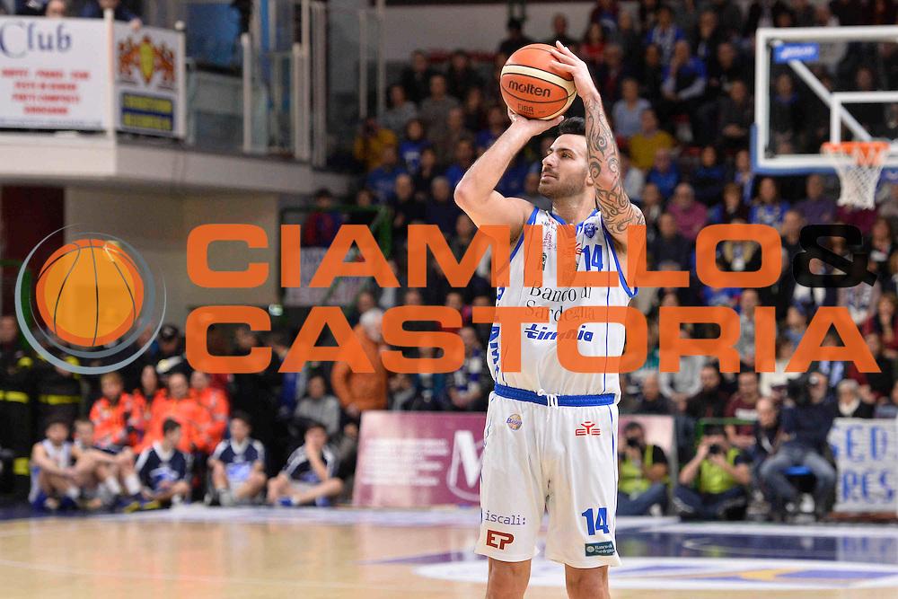 SASSARI 08 GENNAIO 2017<br /> LegaBasket Serie A 2016/2017<br /> Dinamo Banco di Sardegna Sassari - Pasta Reggia Juve Caserta<br /> NELLA FOTO Brian Sacchetti<br /> FOTO CIAMILLO