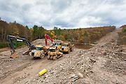 Pipeline Construction, Lackawaxen River, Pennsylvania