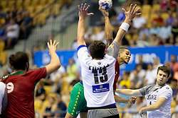 Andre Gomes of Portugal during handball match between National teams of Germany and Portugal in game for Third place of 2018 EHF U20 Men's European Championship, on July 29, 2018 in Arena Zlatorog, Celje, Slovenia. Photo by Urban Urbanc / Sportida