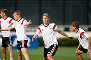 Bastian Schweinsteiger of Germany during the Germany training session at the Est&aacute;dio S&atilde;o Janu&aacute;rio, Rio de Janeiro, ahead of tomorrow's World Cup Final. <br /> Picture by Andrew Tobin/Focus Images Ltd +44 7710 761829<br /> 12/07/2014