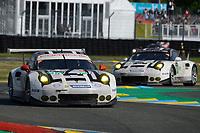 Frederic Makowiecki (FRA) / Earl Bamber (NZL) / Jorg Bergmeister (DEU)  #92 Porsche Motorsport Porsche 911 RSR (2016), . Le Mans 24 Hr June 2016 at Circuit de la Sarthe, Le Mans, Pays de la Loire, France. June 18 2016. World Copyright Peter Taylor/PSP.
