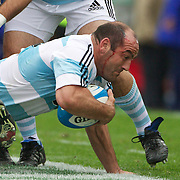 Mario Ledesma, Argentina,  in action during the Argentina V France test match at Estadio Jose Amalfitani, Buenos Aires,  Argentina. 26th June 2010. Photo Tim Clayton...
