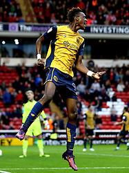 Tammy Abraham of Bristol City celebrates scoring a goal to make it 2-1 - Mandatory by-line: Robbie Stephenson/JMP - 29/10/2016 - FOOTBALL - Oakwell Stadium - Barnsley, England - Barnsley v Bristol City - Sky Bet Championship