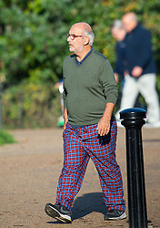 **Alan Yentob has resigned as BBC Creative Director** © Licensed to London News Pictures. 01/11/2015. Former chairman of the board of trustees for Kids Company and BBC executive ALAN YENTOB wearing trousers that resemble pyjama bottoms while walking through Hyde Park in the afternoon on November 1, 2015. . Photo credit: London News Pictures