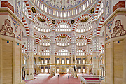 TURKEY, Adana<br /> The Sabancı Merkez Camii, Mosque, as it is one of the largest mosques in the Middle East. It was opened to service in 1998 to a capacity of 25,000 or more prayers. The mosque possesses six minarets, four of them having height of 99 meters. Dome has a diameter of 32 meters and it is 54 meters high. It is located on the west bank of Seyhan River. Adana biggest city in southeast Turkey is situated on the Seyhan River <br /> <br /> DIE FOTOS DUERFEN NICHT VERAENDERT ODER IN AUSSCHNITTEN VEROEFFENTLICHT WERDEN.<br /> PHOTO MAY NOT BE CROPPED OR ALTERED IN ANY WAY<br /> info@murattueremis.com