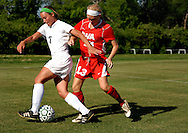 6 MAY 2010 -- FRONTENAC, Mo. -- St. Joseph Academy soccer player Emily Dolan (7) battles Incarnate Word Academy's Erin Murphy (13) for control of the ball during a match between the two St. Louis soccer powers at St. Joseph's in Frontenac, Mo. Thursday, May 6, 2010. Photo © copyright 2010 by Sid Hastings.