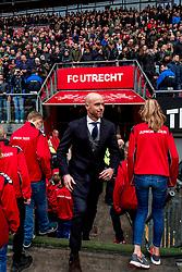 28-01-2018 NED: FC Utrecht - AFC Ajax, Utrecht<br /> Coach Erik ten Hag of Ajax