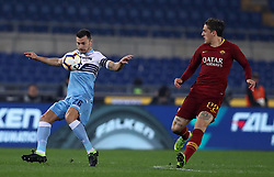 March 2, 2019 - Rome, Lazio, Italy - SS Lazio v As Roma : Serie A.Stefan Radu of Lazio and Niccolo Zaniolo of Roma at Olimpico Stadium in Rome, Italy on March 2, 2019. (Credit Image: © Matteo Ciambelli/NurPhoto via ZUMA Press)