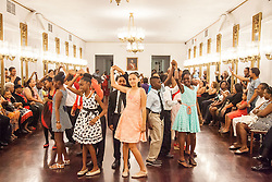 Dancing the Merengue.  Dancing Classrooms Virgin Islands culminating event at the Government House Ballroom in Christiansted.  St. Croix, USVI.  18 December 2015.  © Aisha-Zakiya Boyd
