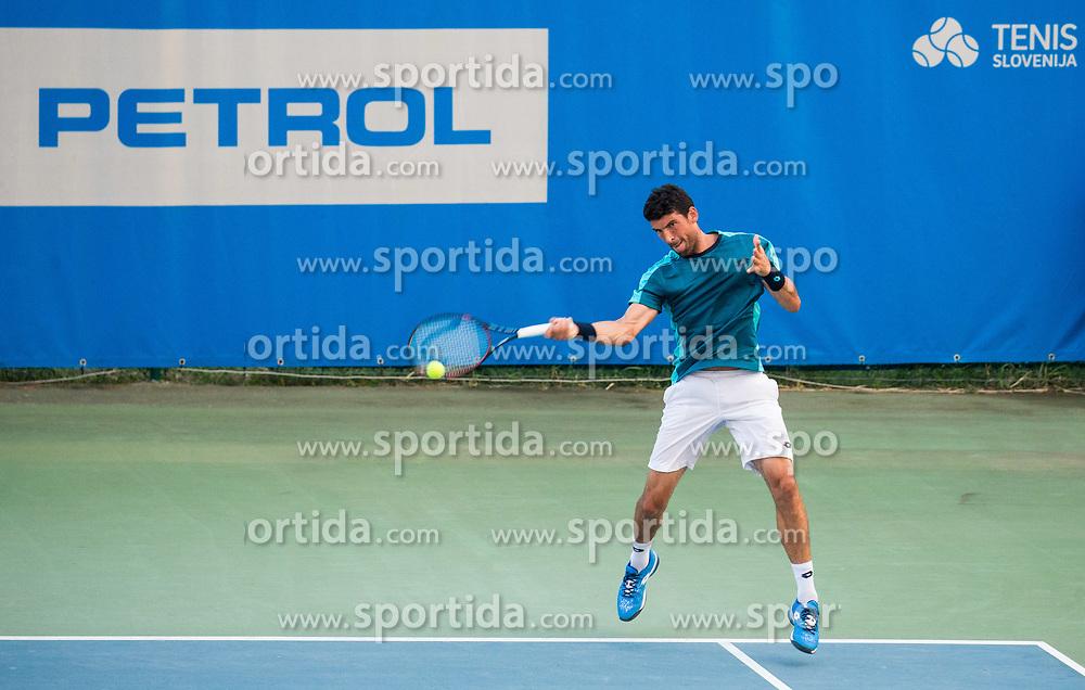 Franko Skugor (CRO) in action during Quarterfinal of  tennis tournament ATP Challenger Zavarovalnica Sava Slovenia Open 2017, on August 10, 2017 in Sports centre, Portoroz/Portorose, Slovenia. Photo by Vid Ponikvar / Sportida