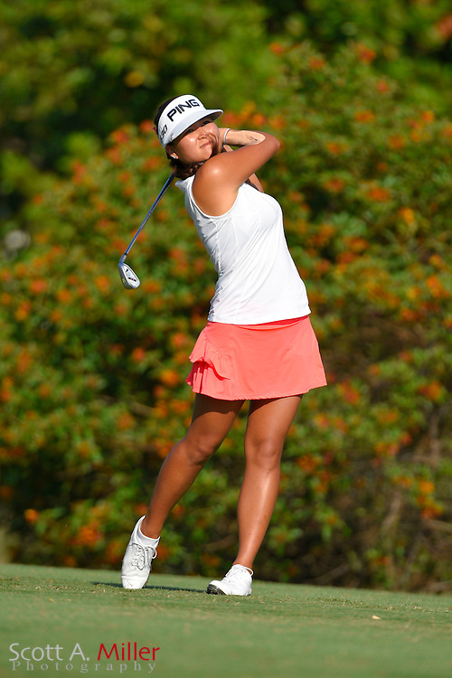 Grace Na during the final round of the Chico's Patty Berg Memorial on April 19, 2015 in Fort Myers, Florida. The tournament feature golfers from both the Symetra and Legends Tours.<br /> <br /> &copy;2015 Scott A. Miller