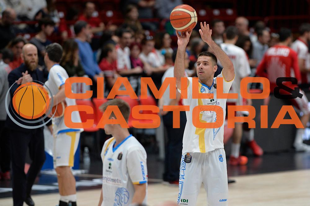 Milenko Tepic<br /> Olimpia EA7 Emporio Armani Milano vs Vanoli Cremona<br /> Lega Basket Serie A 2016/2017<br /> PlayOff semifinale gara 2<br /> Milano 14/05/2017<br /> Foto Ciamillo-Castoria / I.Mancini