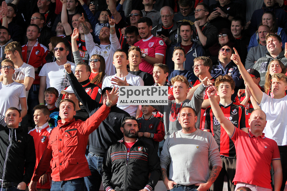 Bournemouth fans sing During Bournemouth vs Tottenham Hotspur on Sunday 25th of October 2015.