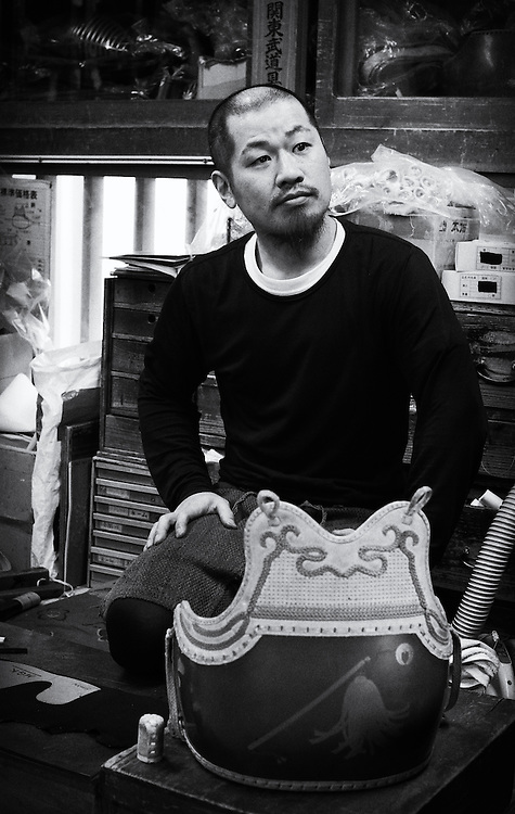 Takatoshi Suzuki in his workshop, Naka Urawa, March 11th 2016.
