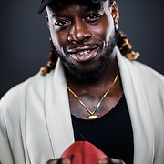 Miami Dolphins running back Jay Ajayi poses for a portrait in the NFL Studio in Culver City, Calif., on July 11, 2016. (Ben Liebenberg/NFL)