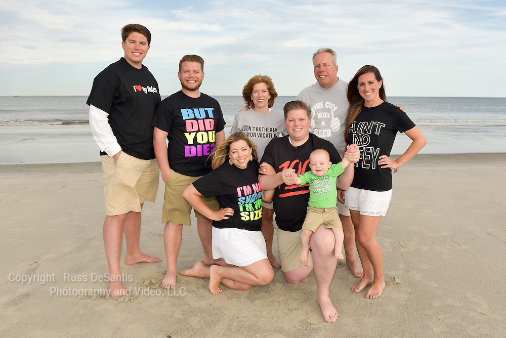 The Visconto family of Philadelphia on a beach in North Wildwood, NJ. Photo was taken on Monday, June 13, 2016.  / Russ DeSantis Photography and Video, LLC