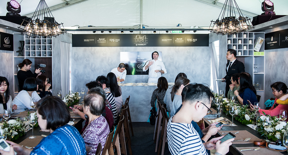 Chef's table, Taste of Hong Kong 2018, Event Highlights for Marriott Group<br /> Photo By  MozIMages