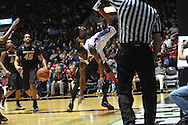"Mississippi's LaDarius White (10) is fouled by Missouri's Tony Criswell (2) at the C.M. ""Tad"" Smith Coliseum in Oxford, Miss. on Saturday, February 8, 2014. Mississippi won 91-88."