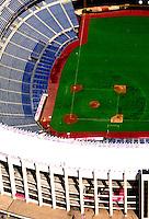 Aerial view of the Philadelphia Phillies Veterans Stadium.