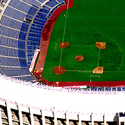 Aerial view of the Philadelphia Phillies Veterans Stadium Aerial views of artistic patterns in the earth.