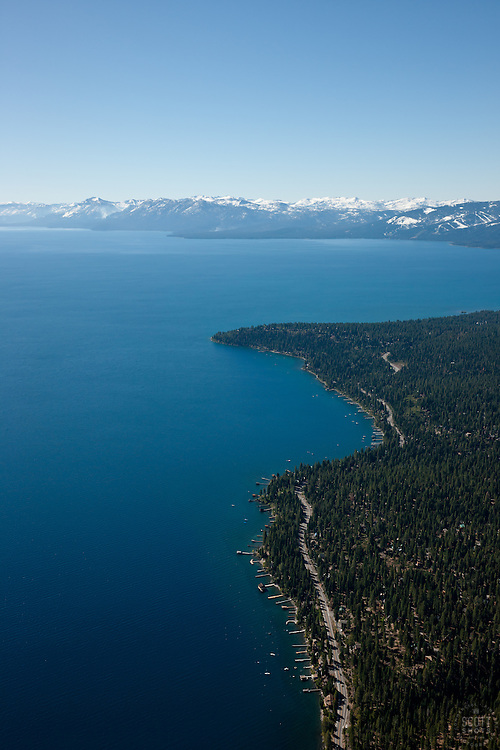 """Lake Tahoe Aerial 3"" - Photograph of Lake Tahoe along the West shore. Shot from an amphibious seaplane with the door removed."