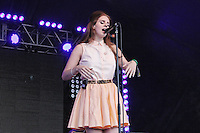 LONDON - JUNE 17: Lana Del Rey performs at Lovebox, Victoria Park, London, UK. June 17, 2012. (Photo by Richard Goldschmidt)