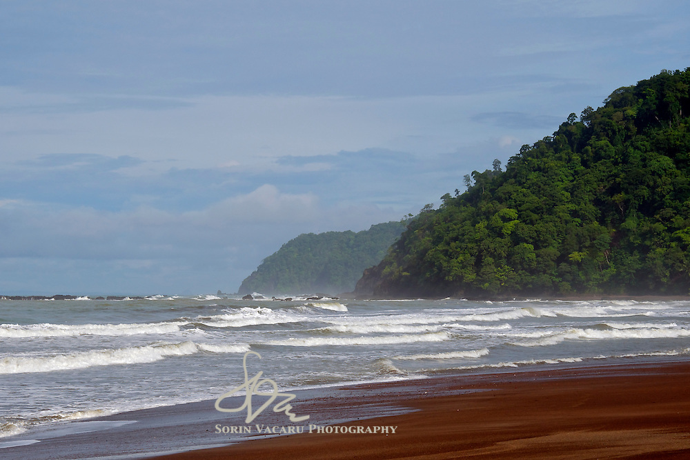 Playa Jaco, one of the many beautiful and wild beaches lining Costa Rica's Pacific Ocean shoreline