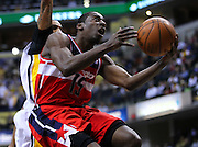 March 29, 2012; Indianapolis, IN, USA; Washington Wizards shooting guard Jordan Crawford (15) shoots the ball against the Indiana Pacers at Bankers Life Fieldhouse. Mandatory credit: Michael Hickey-US PRESSWIRE