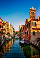"""Church of Santa Fosca bell tower above the Santa Fosca canal - Venice""..."