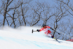 MISAWA Hiraku LW2 JPN competing in the Para Alpine Skiing Downhill at the PyeongChang2018 Winter Paralympic Games, South Korea