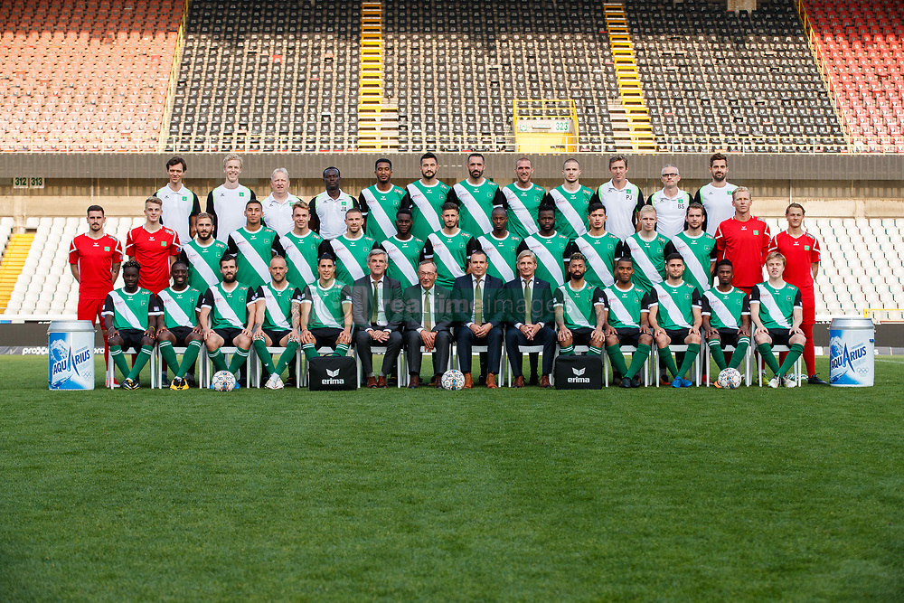 September 26, 2017 - Brugge, BELGIUM - Cercle players and staff pose for photographer at another session after the 2017-2018 season photo shoot of Belgian 1B league soccer team Cercle Brugge, Tuesday 26 September 2017 in Brugge. BELGA PHOTO KURT DESPLENTER (Credit Image: © Kurt Desplenter/Belga via ZUMA Press)