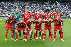 23.04.2014, Estadio Santiago Bernabeu, Madrid, ESP, UEFA CL, Real Madrid vs FC Bayern Muenchen, Halbfinale, Hinspiel, im Bild Mannschaftsbild FC Bayern // during the UEFA Champions League Round of 4, 1st Leg Match between Real Madrid vs FC Bayern Munich at the Estadio Santiago Bernabeu in Madrid, Spain on 2014/04/23. EXPA Pictures &copy; 2014, PhotoCredit: EXPA/ Eibner-Pressefoto/ Kolbert<br /> <br /> *****ATTENTION - OUT of GER*****