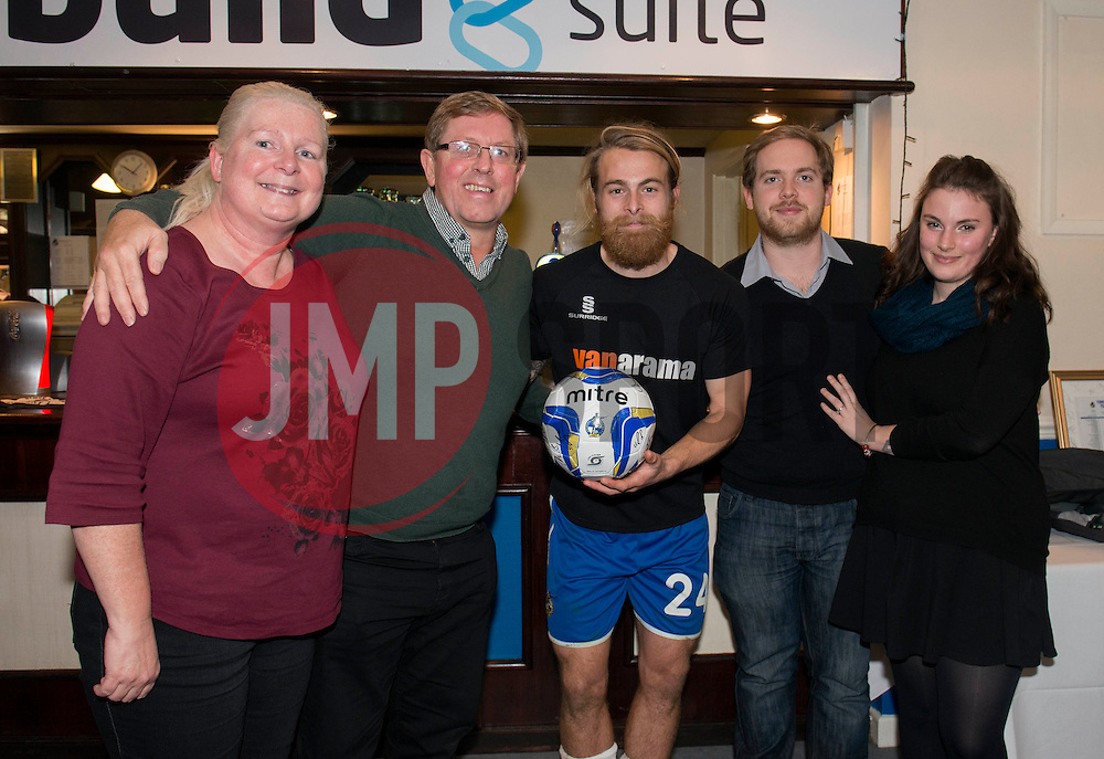 Man of the match presentation - Photo mandatory by-line: Dougie Allward/JMP - Mobile: 07966 386802 - 19/12/2014 - SPORT - football - Bristol - Memorial Stadium - Bristol Rovers v Gateshead  - Vanarama Conference