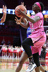 NORMAL, IL - February 10:  Te Te Maggett during a college women's basketball Play4Kay game between the ISU Redbirds and the Indiana State Sycamores on February 10 2019 at Redbird Arena in Normal, IL. (Photo by Alan Look)