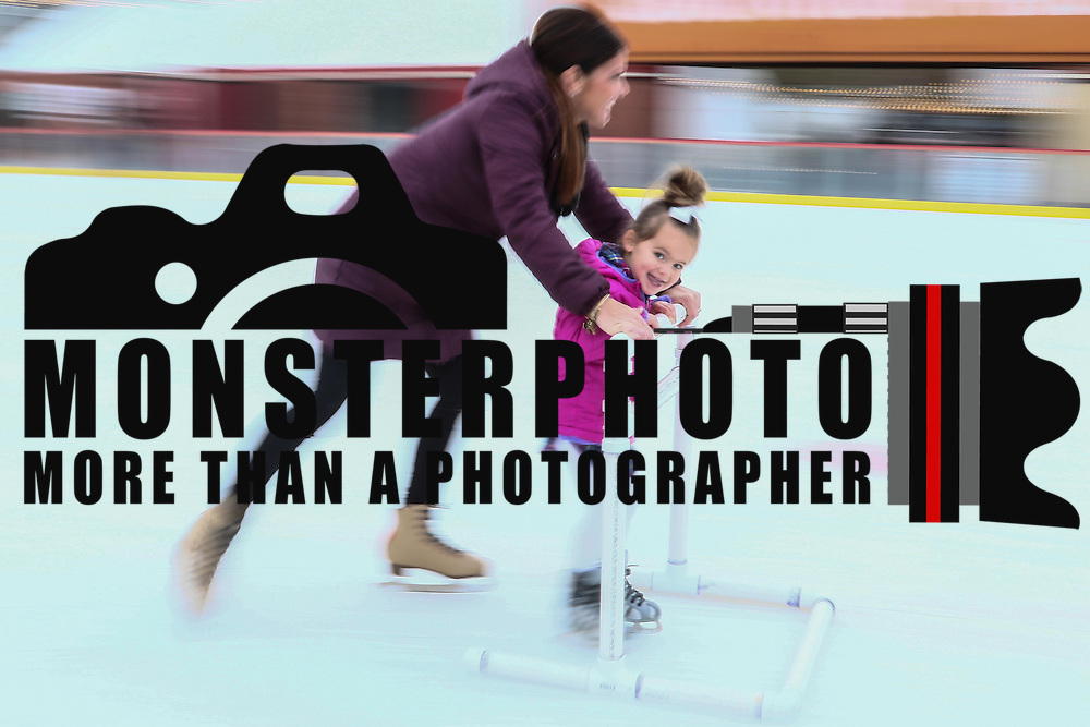 Skaters Giada Indica (3), RIGHT,  and her mother Dena Indica glide across the ice Friday. Nov. 25, 2016, at the Horizon Services Riverfront Rink at ConstitutionYard Beer Garden in Wilmington.