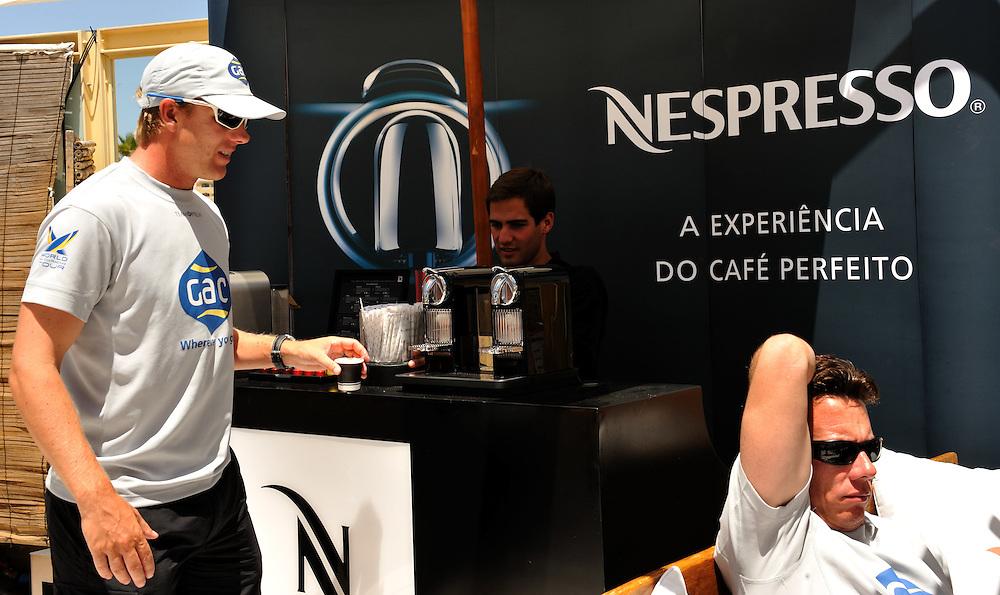 Ian Williams takes a coffee break. Photo:Chris Davies/WMRT