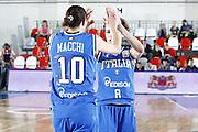 DESCRIZIONE : Valmiera Latvia Lettonia Eurobasket Women 2009 Italia Bielorussia Italy Belarus<br /> GIOCATORE : Laura Macchi Simona Ballardini<br /> SQUADRA : Italia Italy<br /> EVENTO : Eurobasket Women 2009 Campionati Europei Donne 2009 <br /> GARA :  Italia Bielorussia Italy Belarus<br /> DATA : 09/06/2009 <br /> CATEGORIA : esultanza<br /> SPORT : Pallacanestro <br /> AUTORE : Agenzia Ciamillo-Castoria/E.Castoria