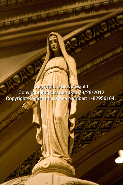 "Virgin Mary statue. Basilica of ""St Mary"" St Paul Minnesota MN USA"