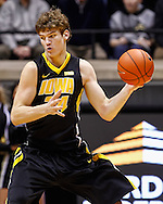 WEST LAFAYETTE, IN - JANUARY 27: Adam Woodbury #34 of the Iowa Hawkeyes seen during the game against the Purdue Boilermakers at Mackey Arena on January 27, 2013 in West Lafayette, Indiana. Purdue defeated Iowa 65-62 in overtime. (Photo by Michael Hickey/Getty Images) *** Local Caption *** Adam Woodbury