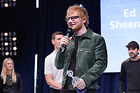 Ed Sheeran accepts his award onstage during the O2 Silver Clef Awards 2019, Grosvenor House, London, UK, Friday 05 July 2019<br /> Photo JM Enternational
