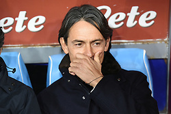 December 29, 2018 - Naples, Naples, Italy - Head Coach of Bologna FC Filippo Inzaghi during the Serie A TIM match between SSC Napoli and Bologna FC at Stadio San Paolo Naples Italy on 29 December 2018. (Credit Image: © Franco Romano/NurPhoto via ZUMA Press)