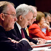 "Commission member James Thompson. Commission staffers present Staff Statement No. 15, ""Overview of the Enemy."" The 9/11 Commission's 12th public hearing on ""The 9/11 Plot"" and ""National Crisis Management"" was held June 16-17, 2004, in Washington, DC."