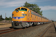 The Union Pacific Streamliner in Eugene, Oregon for a short visit.