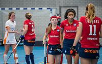 ROTTERDAM - Romee Corver (Hurley)  dames Hurley-Oranje Rood, Hurley plaatst zich voor halve finales NK  ,hoofdklasse competitie  zaalhockey.   COPYRIGHT  KOEN SUYK