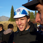 Dan Warren from Hastings after winning the New Zealand Cyclocross Championships sponsored by AJ Hackett Bungy, held at Jardine Park,  Queenstown, as part of the Queenstown WInter Festival.  Anja McDonald from Dunedin won the women's event. Queenstown, New Zealand, 2nd July 2011