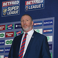 Interim Rugby Football League Chief executive Ralph Rimmer during the media launch for the Betfred Super League 2018 season at the John Smiths Stadium, Huddersfield<br /> Picture by Stephen Gaunt/Focus Images Ltd +447904 833202<br /> 25/01/2018