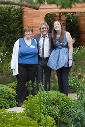 © Licensed to London News Pictures. 21/05/2012. London, England. Roger Daltrey at the Homebase Teenage Cancer Trust Garden. RHS Celsea Flower Show 2012 - Press Day. Photo credit: Bettina Strenske/LNP