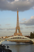 Eiffel Tower, March 31, 1889 (Universal Exhibition in celebration of the French Revolution), Alexandre Gustave Eiffel (1832-1923), 324 meters high, 10,100 tons, 18,038 pieces, 2,500,000 rivets, 1665 steps, Paris, France Picture by Manuel Cohen